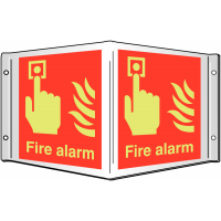 Fire Alarm' Photoluminescent Projecting 3D Sign with Xtra-Glo