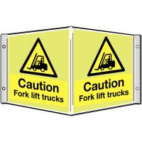 3D Luminescent Fork Lift Truck Warning Sign