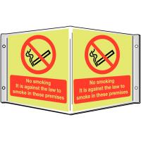 3D Semi-Rigid Plastic Projecting 'No Smoking' Sign