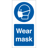 Wear Mask' Adhesive Vinyl Safety Labels