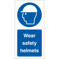 Clear Wear Safety Helmets Vinyl Safety Labels On-A-Roll