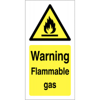 Warning – Flammable Gas' Self-Adhesive Vinyl Labels
