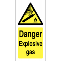 Explosive Gas Warning Stickers