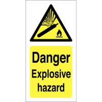 Explosive Hazard Warning Labels