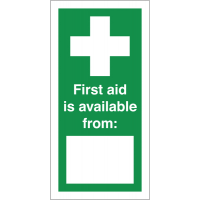 Self-adhesive vinyl labels for first aid instruction