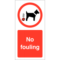 No Fouling Vinyl Safety Labels On-a-Roll