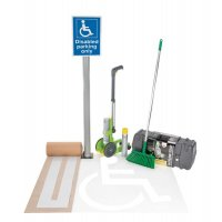 Complete Disabled Parking Sign and Paint Kit