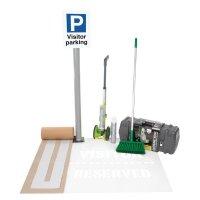 Kit to create visitor vehicle parking bays