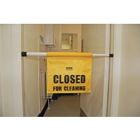 Bright, high-quality closed for cleaning sign