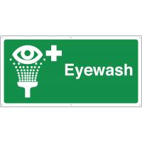 Large, Highly-Visible Eyewash Banner Sign