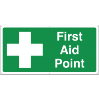 Large 'First Aid Point' Banner Sign