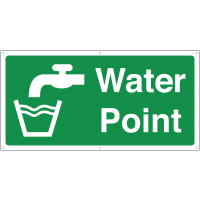 Large water point banner sign
