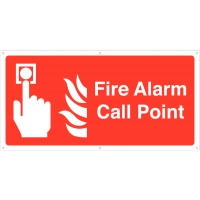 Fire alarm call point large banner sign