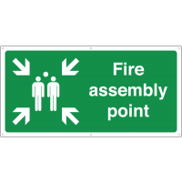 Large fire assembly banner signs