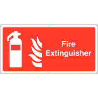 Highly Visible Fire Extinguisher Banner Safety Sign