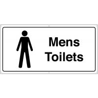 Black and White Men's Toilets Banner Signs