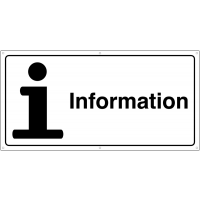 Large, High-Quality Information Point Banner