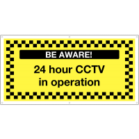 '24 Hour CCTV in Operation' Large Format Banner Sign