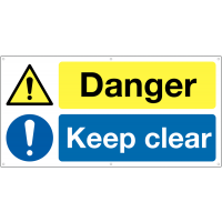 All-Weather 'Danger Keep Out' Safety Banner