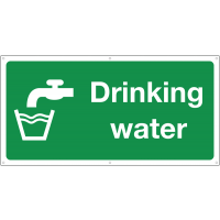 Drinking water refuge point sign