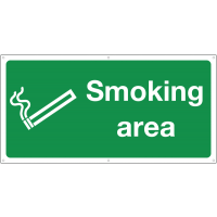 Smoking area location banner sign