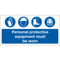 Large Format 'Personal Protective Equipment Must Be Worn' Banner Sign