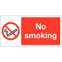 Large no smoking banner signs