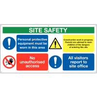 Large PPE Site Safety Banner Sign