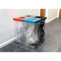 Transparent Recycling Bins With Colour-Coded Lids