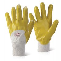 Lightweight Yellow Nitrile-Coated Work Gloves