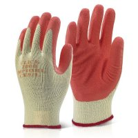 Orange Latex-Coated Multi Purpose Gloves