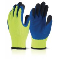 High-Visibility Latex Gloves For Cold Environments