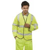 Yellow Hi-Visibility Long-Sleeved Waistcoat