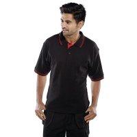 Smart Two Tone Black Polo Neck Shirt