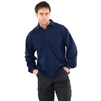 Long sleeved flame retardant polo shirt