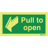 """Photoluminescent """"Pull to Open"""" Signs for Fire Exit Doors"""