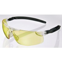 Scratch-Resistant Anti-Fog Safety Glasses with Self-Adjusting Arms