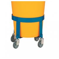 Dolly for sturdy cylinder bin