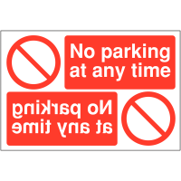 "Reversing ""no parking at any time"" signs"