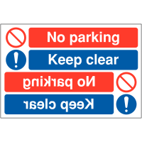 Car Park Signs for Reversing – No Parking Keep Clear