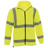 Comfortable and safety-ensuring high visibility fleece jacket