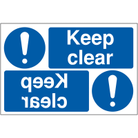 Reversing 'keep clear' car park signs