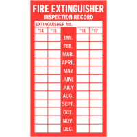 Self-adhesive Vinyl Fire Extinguisher Inspection Labels