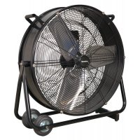 "Two-speed, high-velocity Sealey 24"" industrial drum fan"