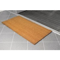Resilient coir matting for entry doorways