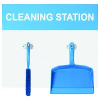 Dustpan & Brush Cleaning Station Shadow Boards