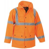 Hi vis orange railway storm coat
