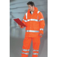 High Visibility Waterproof Railway Trousers