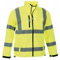 High Visibility Collared Soft Shell Jacket