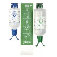 Plum Saline/Neutral Duo Eye Wash Wall-Mount Station